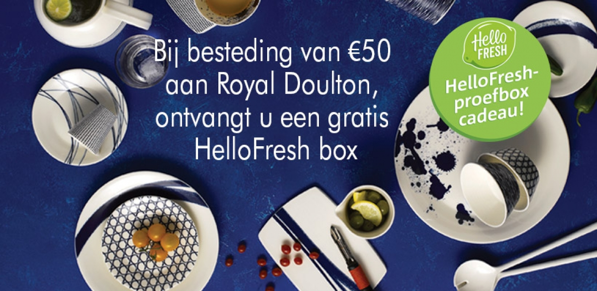 Royal Doulton & HelloFresh actie