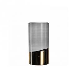 Vaas grijs/goud 30 cm