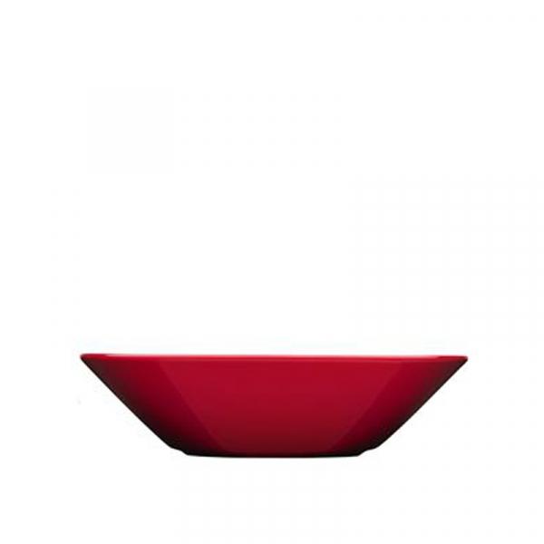 Diep bord 21 cm rood