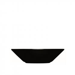 Diep bord 21 cm zwart