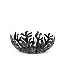 Fruitschaal rvs zwart 29 cm