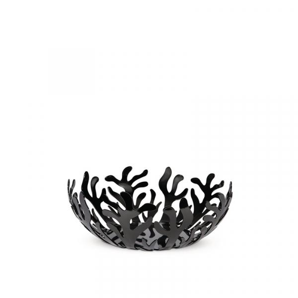 Fruitschaal rvs zwart 21 cm