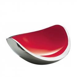 Fruitschaal rvs rood