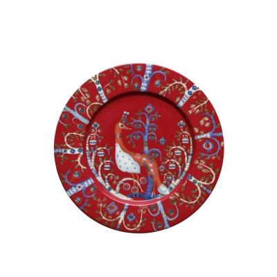 Iittala Taika, Plat bord 22cm rood