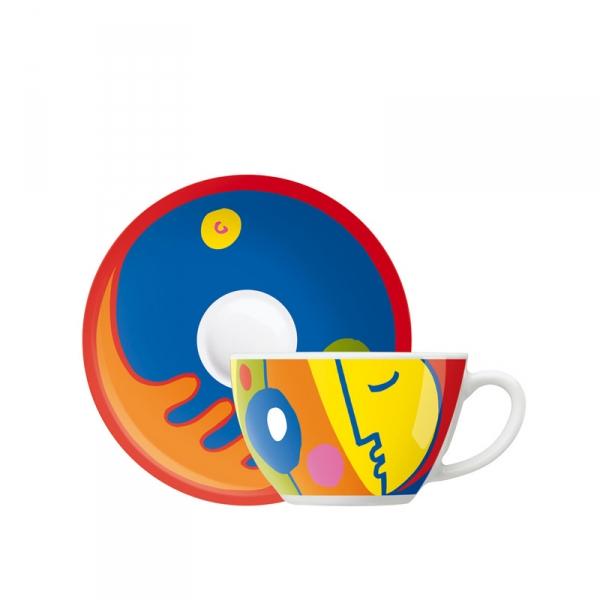 Cappuccinokop & -schotel 044