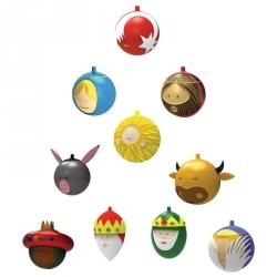 Kerstballenset, per 10