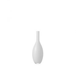 Vaas glas wit 18 cm