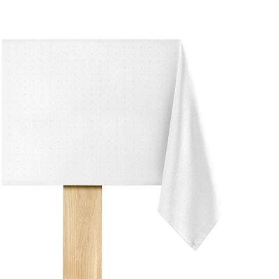 De Witte Lietaer Puntos Tafelkleed Wit 160 x 250 cm