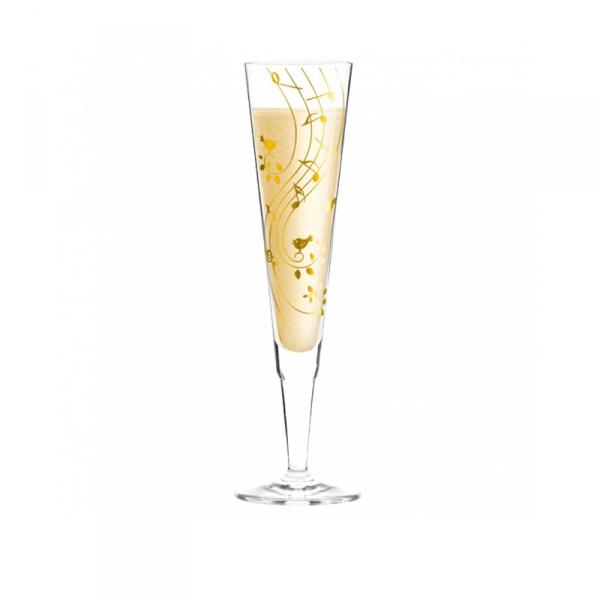 Champagneglas 202 muzieknoot