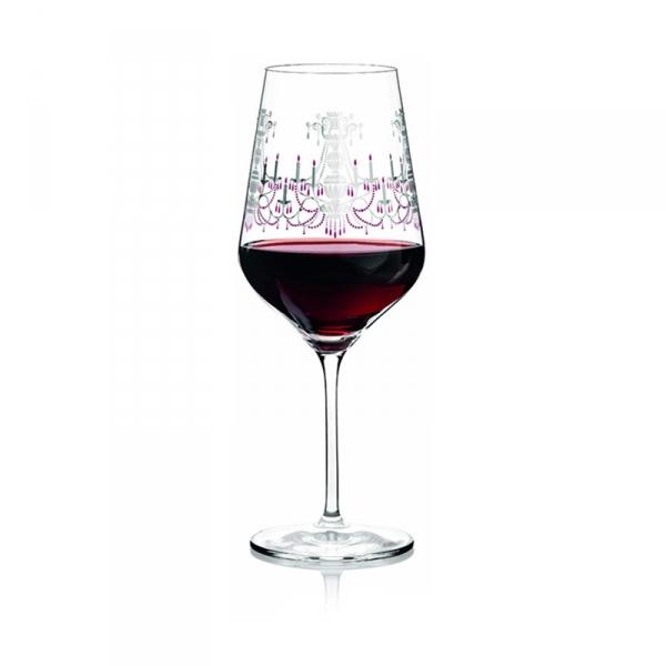 Rode wijnglas 004