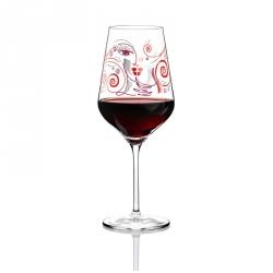 Rode wijnglas 005