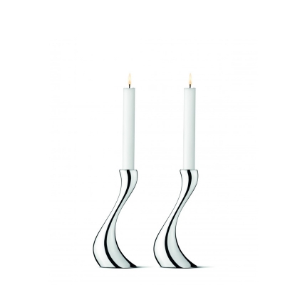Georg Jensen Cobra Kaarsenstandaard medium, per 2