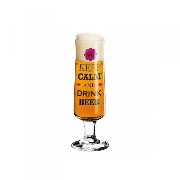 Bierglas 010 keep calm - 300 ml