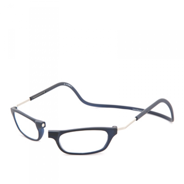 Clic Vision Frosted Blauw  XL 35° Leesbril +1.0