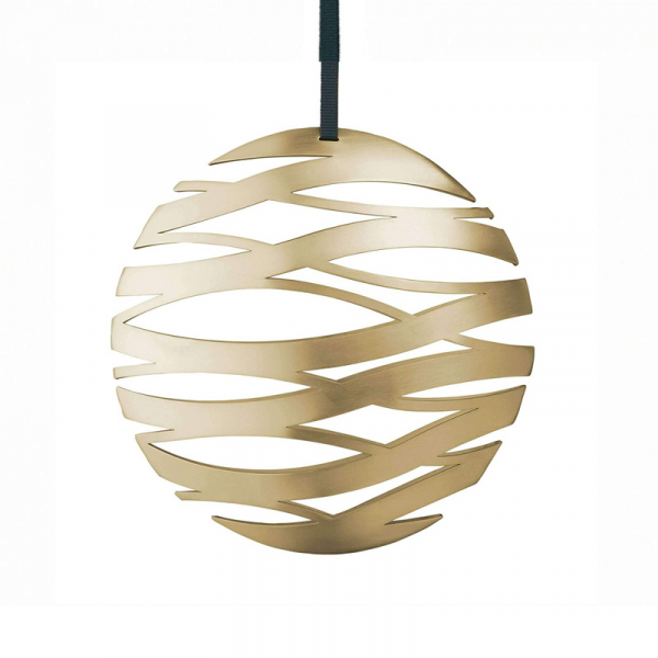 Ornament Bal messing 17 cm