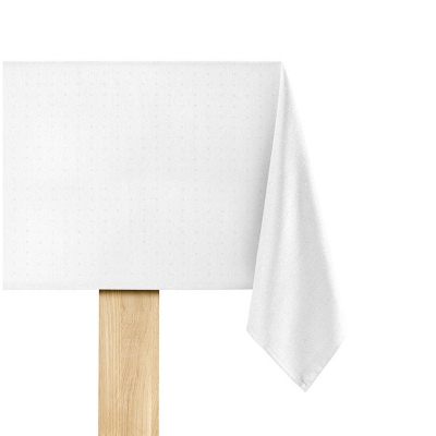 De Witte Lietaer Puntos Tafelkleed Wit 140 x 220 cm
