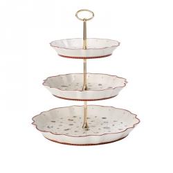Etagère porselein 3-laags 33 cm