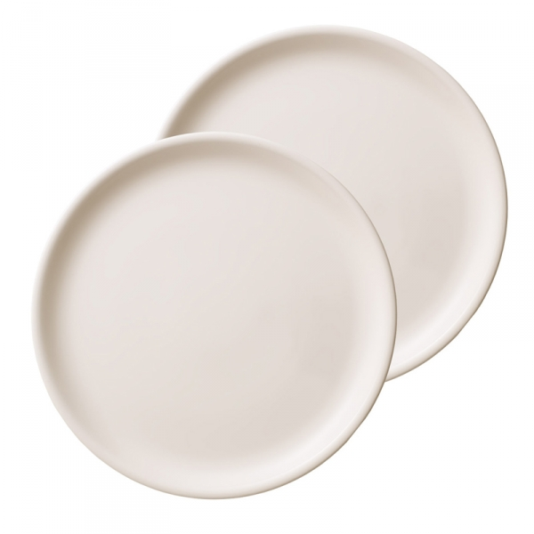 Pizzabord - 2-delige set - rond - 34 cm - Premium porselein
