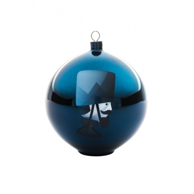 Alessi Blue Christmas kerstbal Soldatino