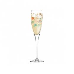 Proseccoglas bloemetjes 160 ml - 027