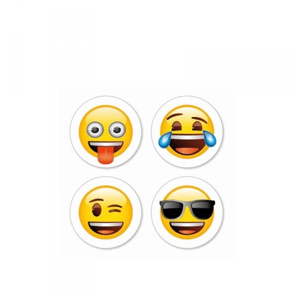 Emoji magneten, 4 stuks