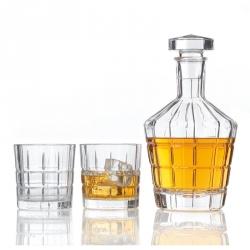 Decanteerset, 2 whiskey glazen en decanteerkaraf