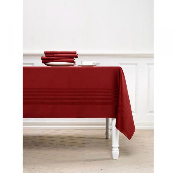 Tafelkleed rood 160x260 bourgogn