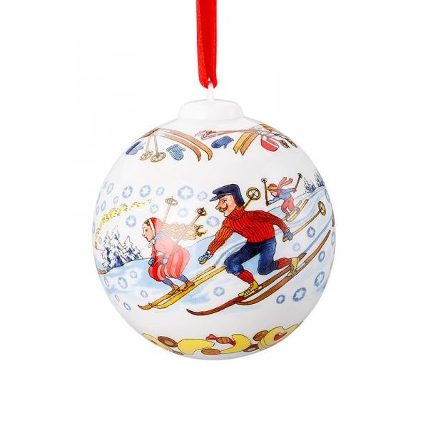 Kerstbal 2018, winterpret 6cm