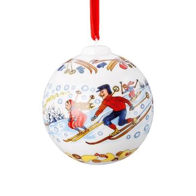 Hutschenreuther, Kerst, 2018, Kerstbal, 2018, winterpret, 6cm, Wonen, x mass