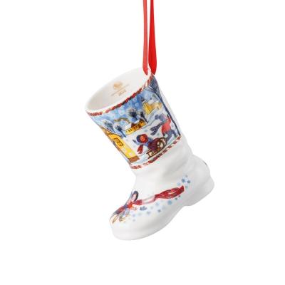 Hutschenreuther, Kerst, 2018, Kerstlaars, 2018, winterpret, 7,5cm, Wonen, kerstman