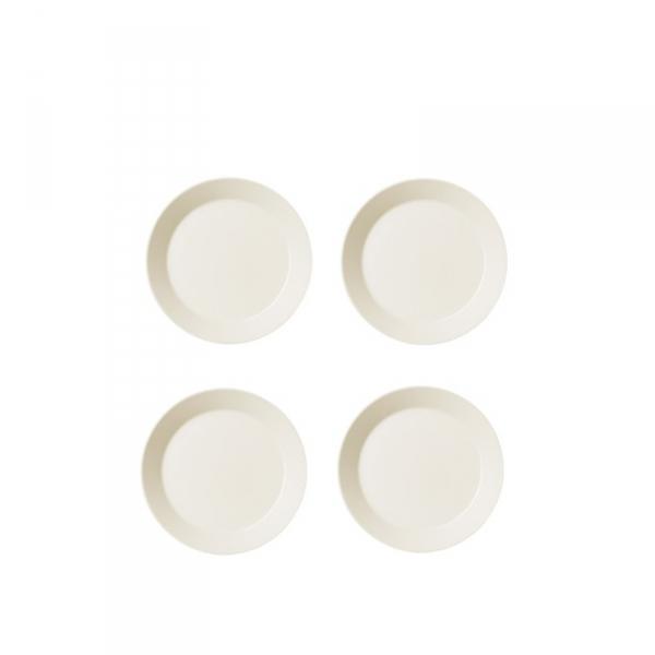 Ontbijtbord 21 cm wit, per 4