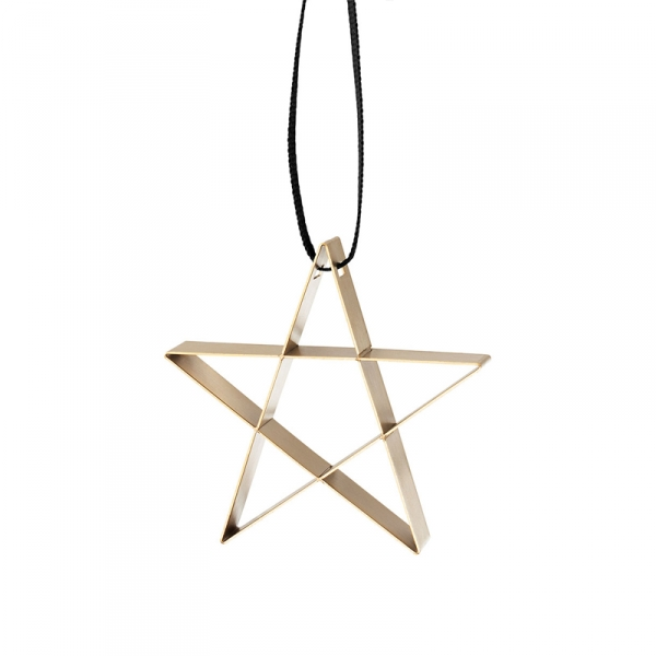 Ornament Ster small goud