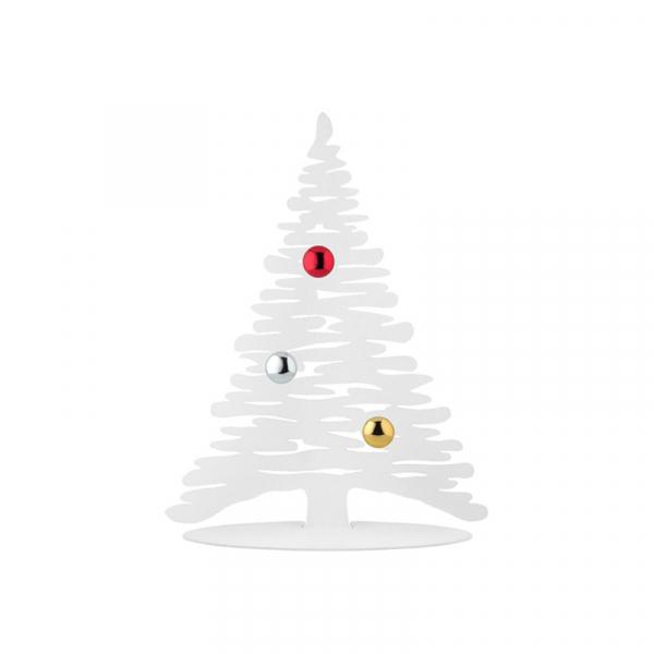 Kerstboom wit hoogglans 30 cm, incl 3 magneten