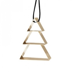 Ornament kerstboom large goud