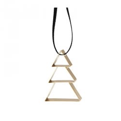 Ornament Kerstboom small goud