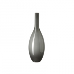 Vaas glas grijs 39 cm