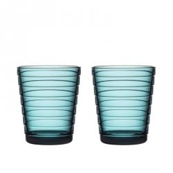 Waterglas 0,22 l Zeeblauw, per 2