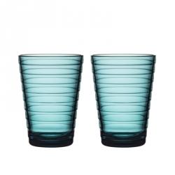 Waterglas 0,33 l Zeeblauw, per 2
