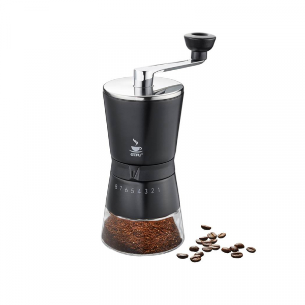 Koffiemolen RVS zwart