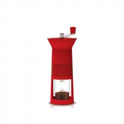 Handmatige koffiebonen maler rood
