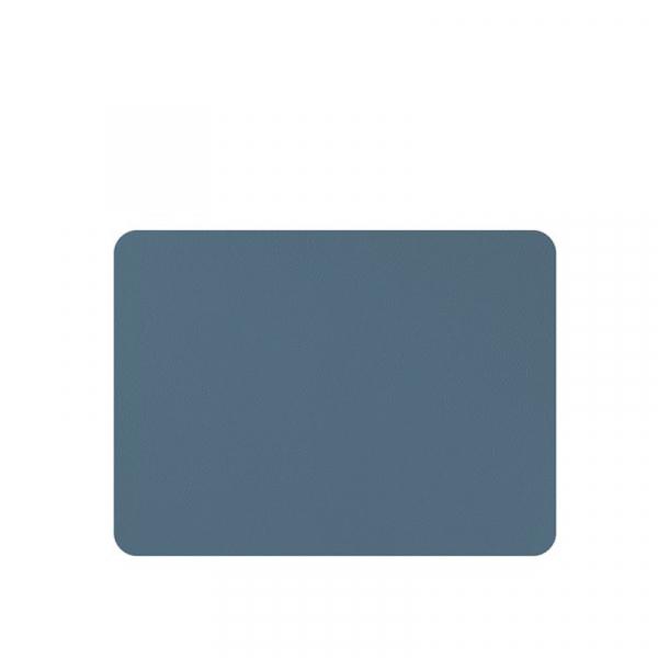 Placemats lederlook blauw 33 x 45 cm, per 6