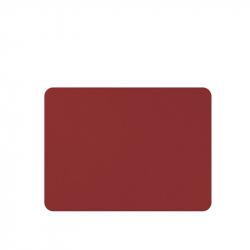 Placemats lederlook rood 33 x 45 cm, per 6