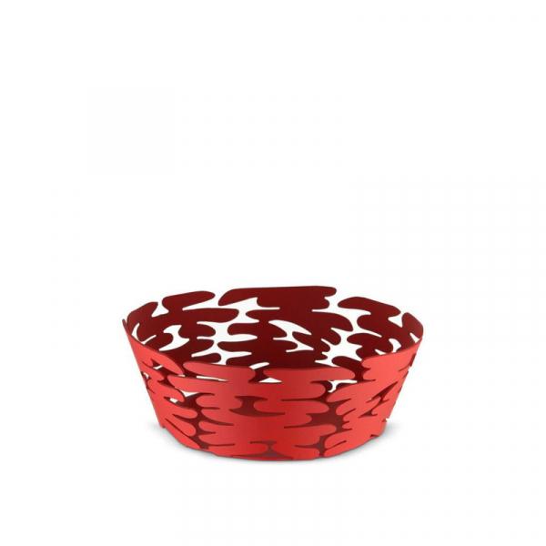 Schaal rood RVS 18 cm