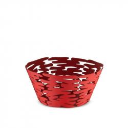 Schaal rood RVS 21 cm
