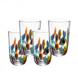 Longdrinkglas 0,43 l multicolour,  per 4