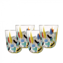 Whiskyglas multicolour, per 4