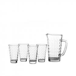 Karaf met 4 glazen,  5-delig