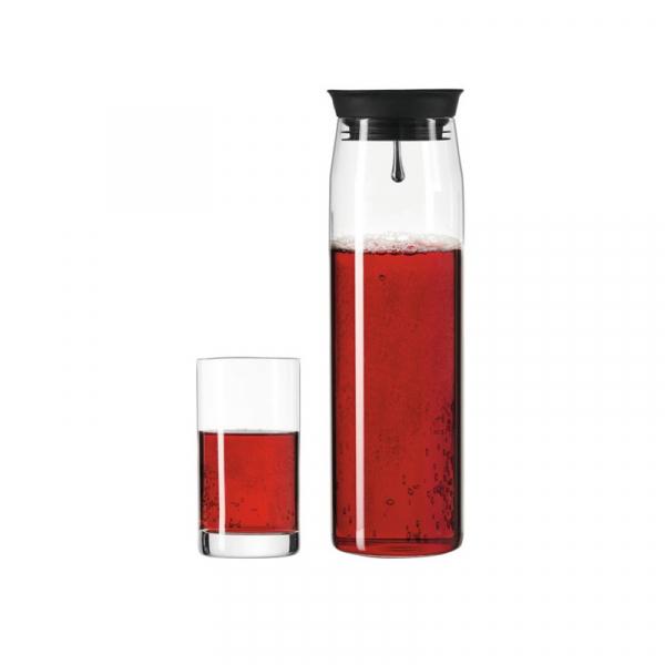 Karaf met 2 glazen, glas 3-delig