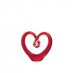 Sculptuur hart rood glas