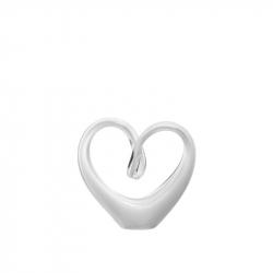 Sculptuur hart wit glas